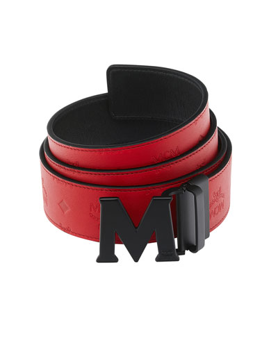 Reversible M-Buckle Belt