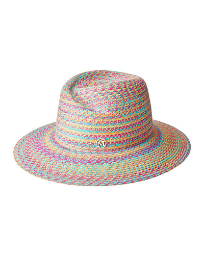 Virginie Multicolor Straw Fedora Hat