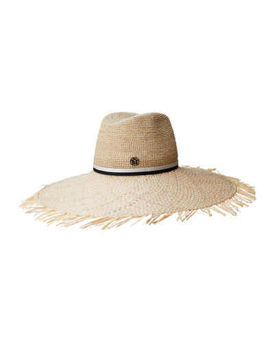 Big Kate Crochet Straw Large Brim Hat