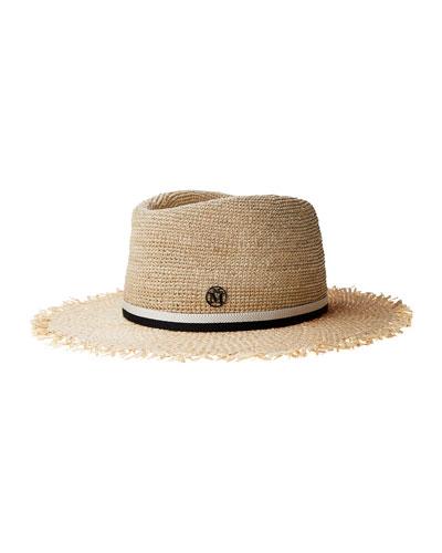 Andre Crochet Straw Fedora Hat