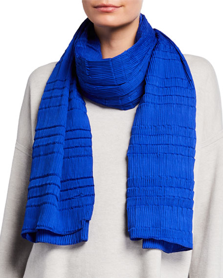 Eileen Fisher Mini-Pleated Scarf
