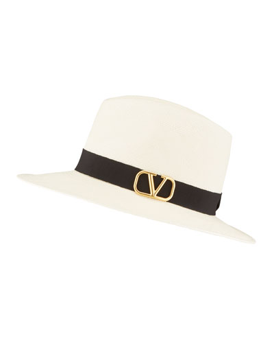 VLOGO Straw Fedora Hat