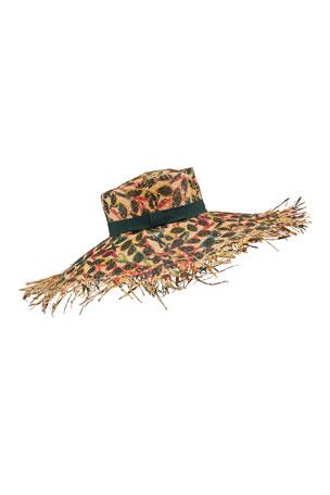 Raffaello Bettini Sunglasses Print Large Brim Straw Hat