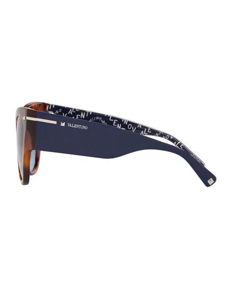 Valentino Chunky Cat-Eye Acetate Sunglasses