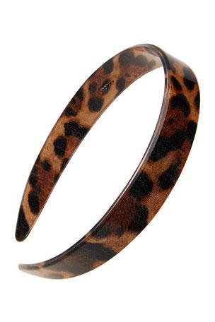 France Luxe Leopard Print Acetate Headband