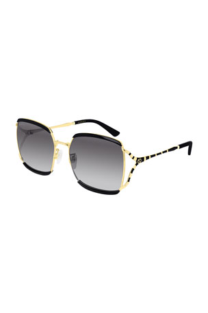 Gucci Oversized Square Injection Sunglasses
