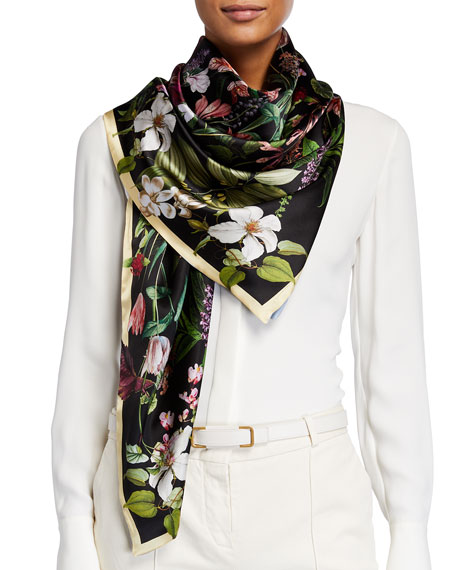 Image 1 of 3: St. Piece Lena Double Sided Silk Scarf