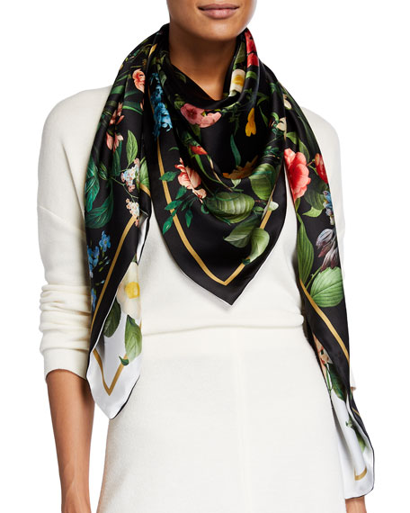 Image 1 of 3: St. Piece Laura Double Sided Silk Scarf