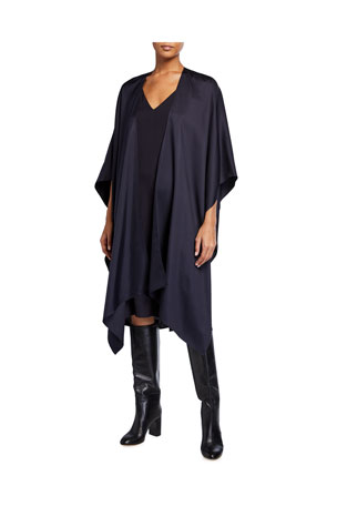 LAPOINTE Silky Twill Wrapped Cape