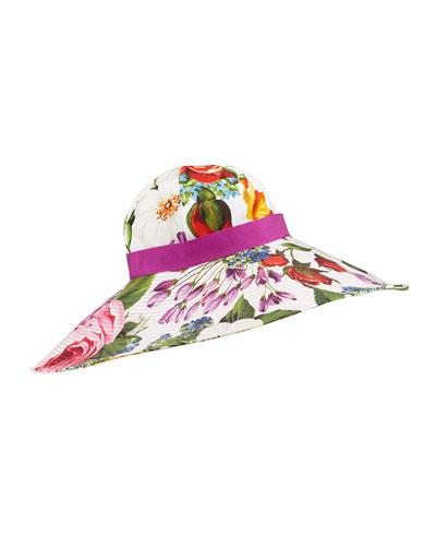 Mixed Flower Print Sun Hat