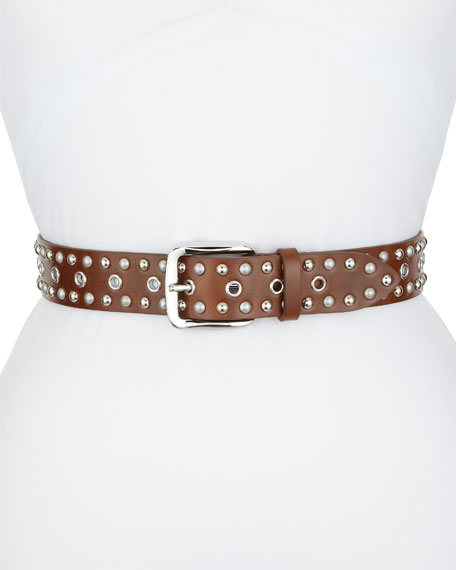 Etoile Isabel Marant Rica Studded Leather Belt
