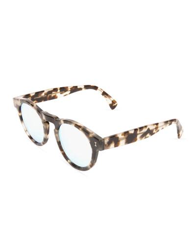 Leonard Round Acetate Sunglasses