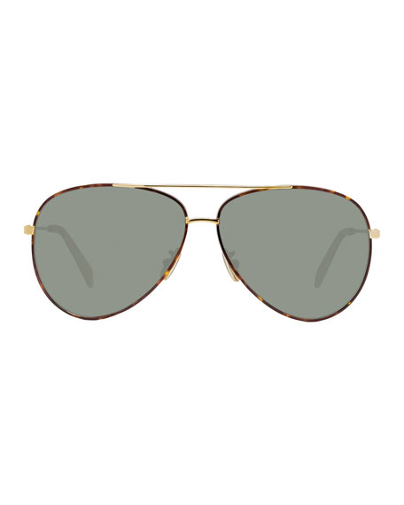 Image 2 of 3: Metal Aviator Sunglasses