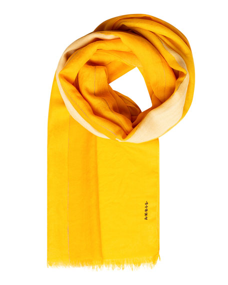 Akris Striped Cashmere Silk Scarf