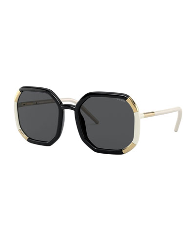 Square Colorblock Sunglasses