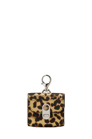 Christian Louboutin Elisa Leopard-Print Belt Bag Case