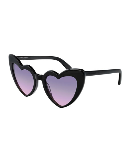 Saint Laurent Lou Lou Oversized Heart Sunglasses