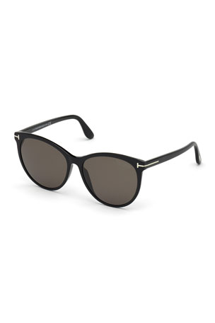 TOM FORD Maxim Cat-Eye Polarized Acetate Sunglasses