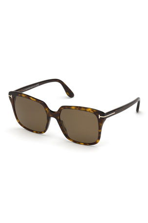 TOM FORD Faye Square Acetate Sunglasses
