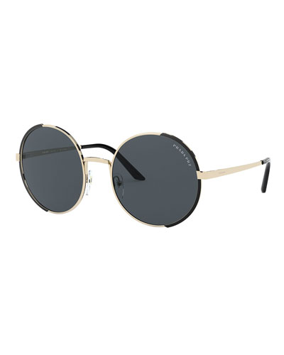 Round Metal Polarized Sunglasses
