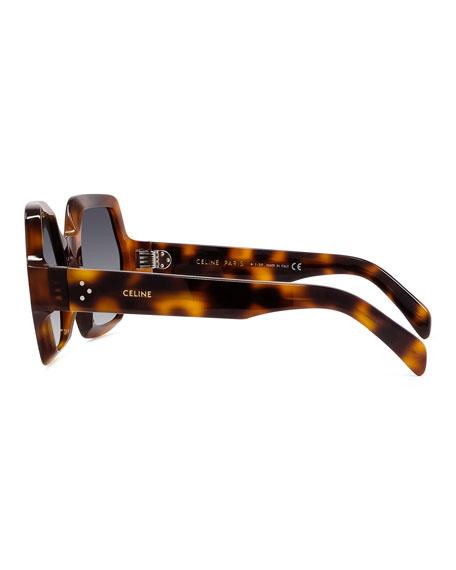 Celine Hexagonal Acetate Polarized Sunglasses
