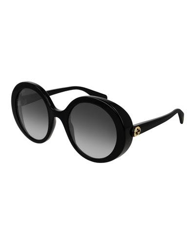 Round Injection Gradient Sunglasses