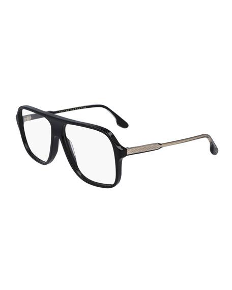 Victoria Beckham Guilloche Navigator Optical Glasses