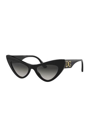 Dolce & Gabbana Exaggerated Cat-Eye Acetate Sunglasses