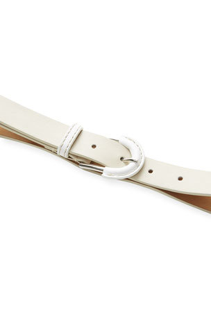 Lafayette 148 New York Leather Contrast Belt