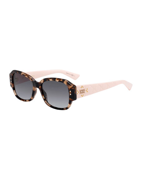 Image 1 of 1: Lady Dior Studs Rectangle Sunglasses