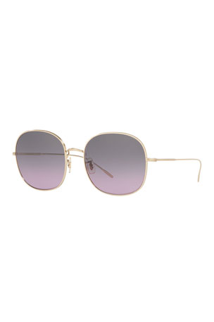 Oliver Peoples Mehrie Metal Square Sunglasses