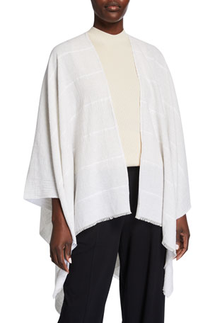Eileen Fisher Organic Cotton Textured Wrap