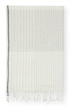 Eileen Fisher Handloomed Organic Cotton Grid Scarf