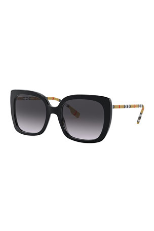 Burberry Icon Stripe Square Acetate Sunglasses