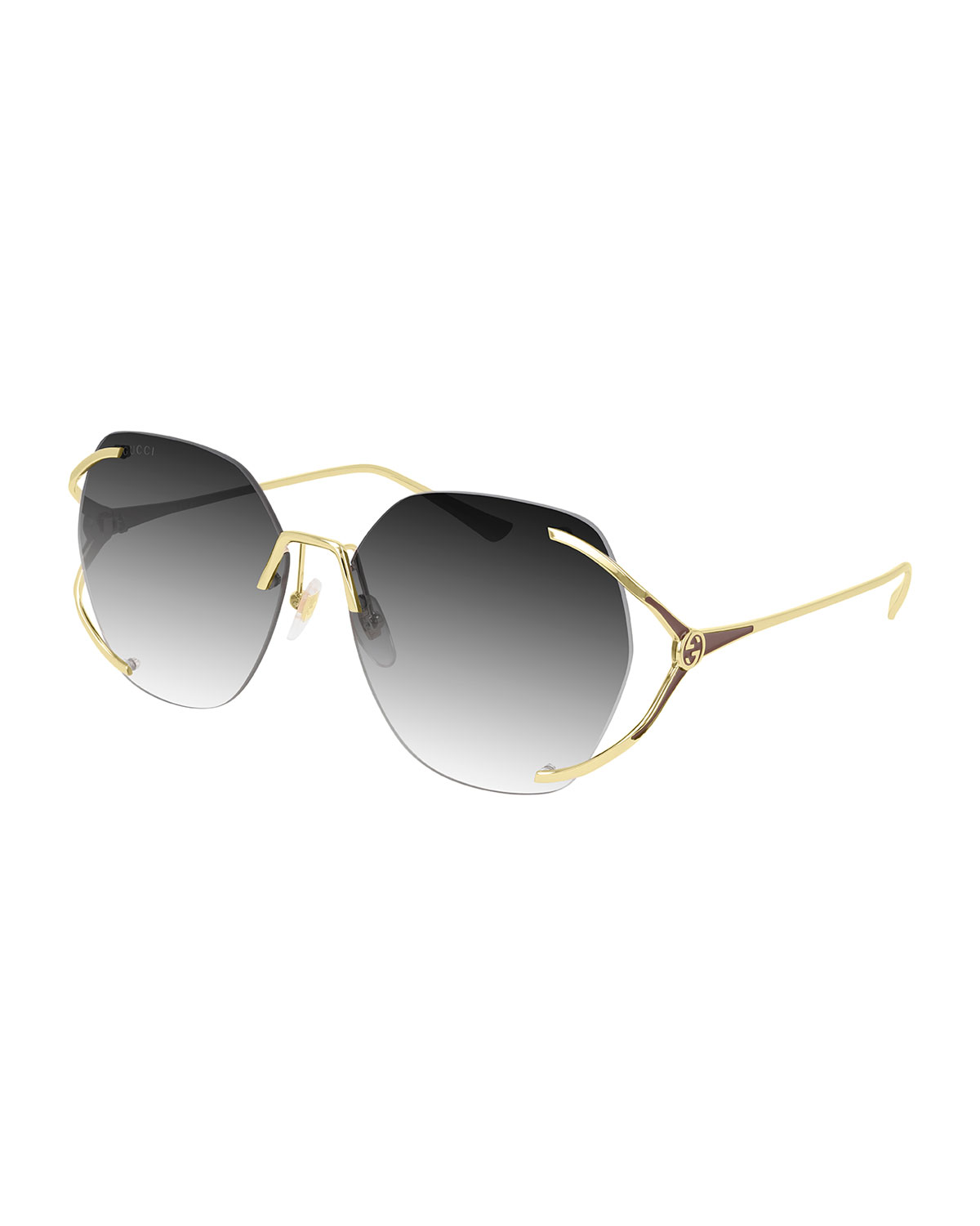 Gucci Rimless Metal Sunglasses