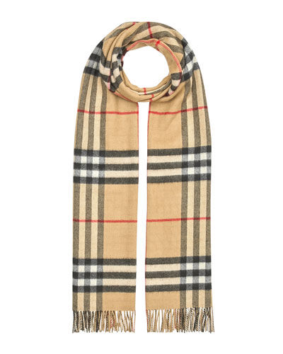 Burberry Oversized Giant Check Cashmere Scarf