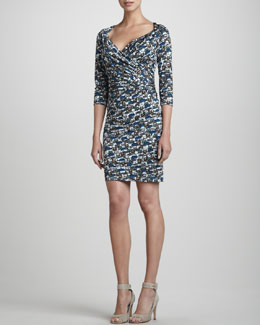 Rena Lange Handbag-Print Wrapped Dress