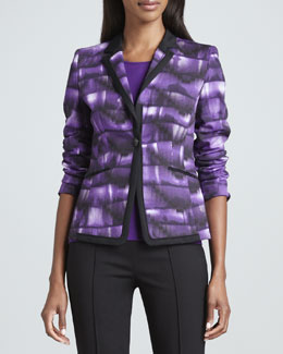 Rena Lange Abstract-Print Cotton Jacket