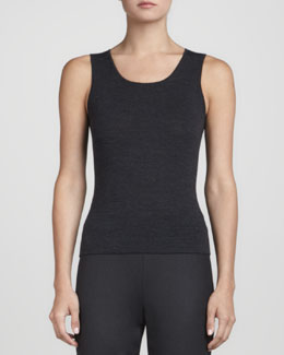 Rena Lange Knit Wool Tank Top, Anthracite