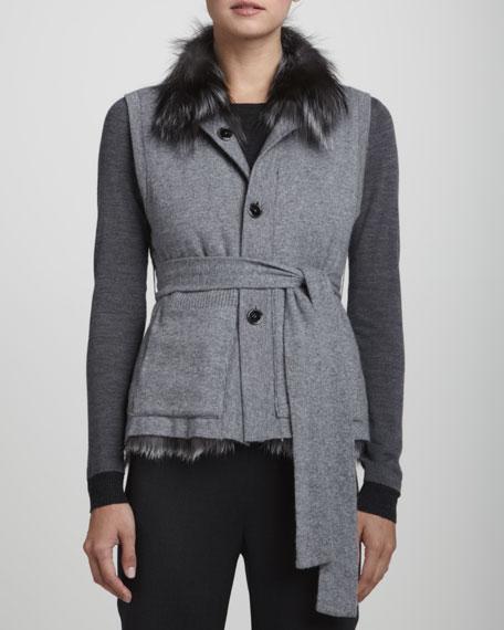 Reversible Knit & Fur Vest