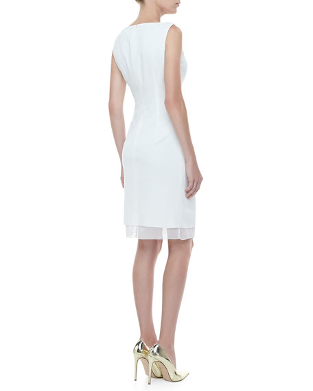 Surplice Ruched Sleeveless Dress