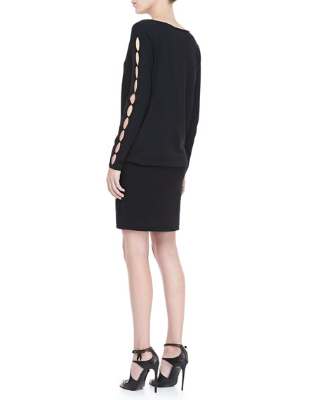 Cutout-Sleeve Knit Dress