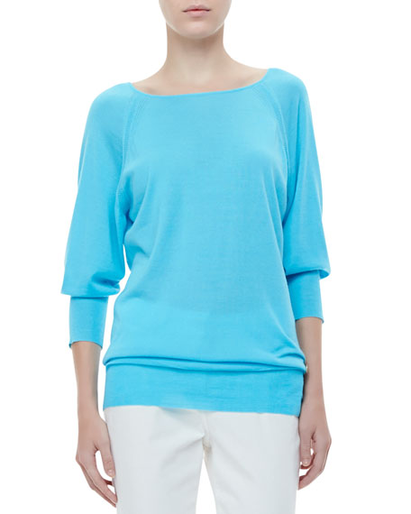 Raglan-Sleeve Knit Tunic