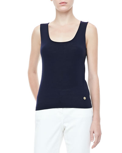 Rena Lange Scoop-Neck Knit Tank