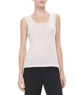 Rena Lange Knit Scoop-Neck Tank