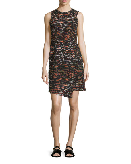 GREY Jason Wu Sleeveless Tweed Dress w/ Asymmetric
