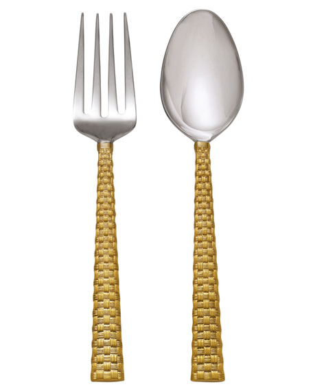 Palm Golden Servers, 2-Piece Set