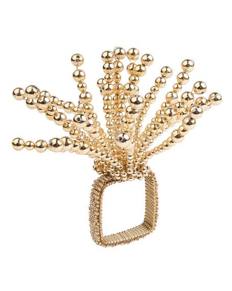 Gold Fireworks Napkin Ring