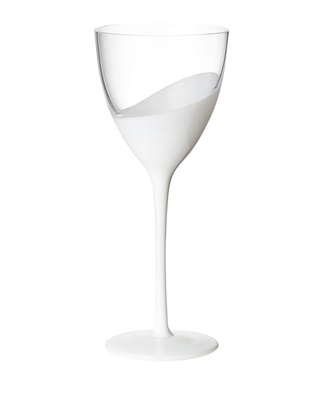 Vague Clear/White Goblet