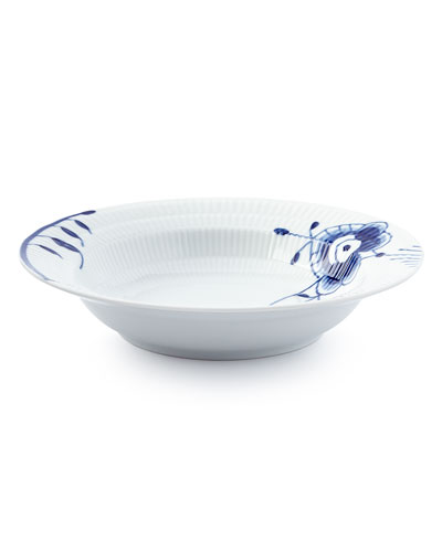 Blue Fluted Mega Rim Soup Bowl #6
